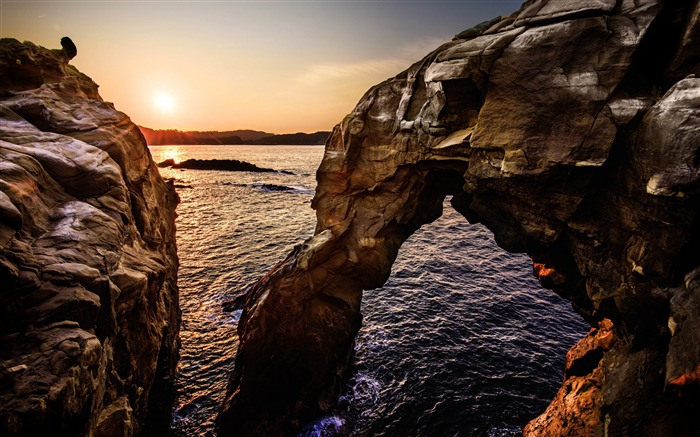 Elephant nose rock sunset-Scenery High Quality Wallpaper Views:932