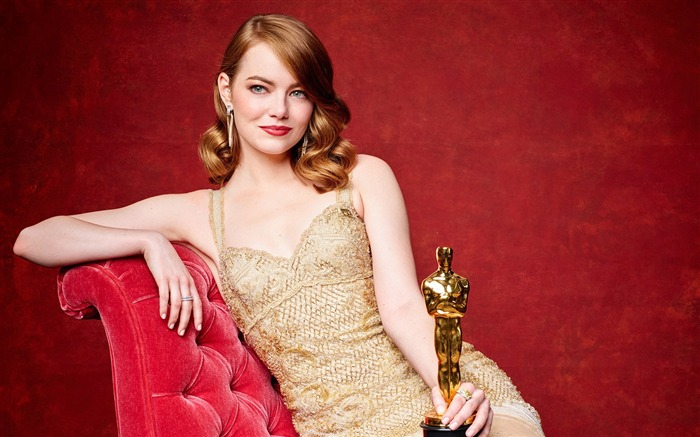 Emma Stone Oscar 2017 Winner-2017 High Quality Wallpaper