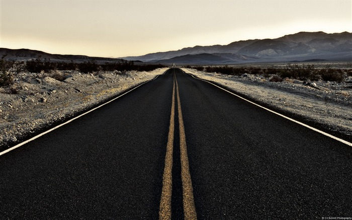 Endroad death valley-Country Nature Scenery Wallpaper