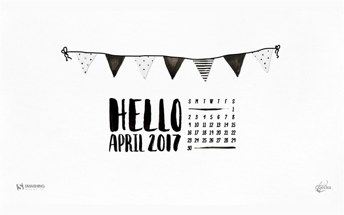 Title:Hello-April 2017 Calendar Wallpaper Views:321