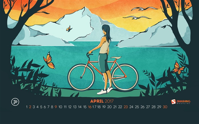 Is The Nicest Month-April 2017 Calendar Wallpaper