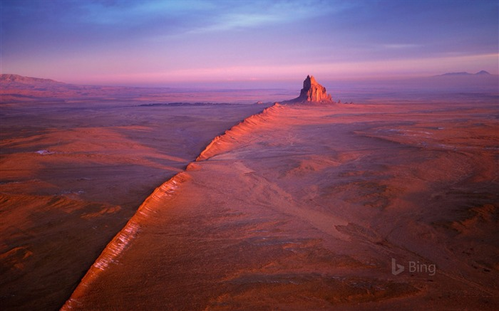 Shiprock in the Navajo Nation of New Mexico -2017 Bing Desktop Wallpaper Views:267