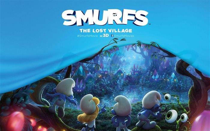 Smurfs The Lost Village 2017 HD Wallpaper Views:996