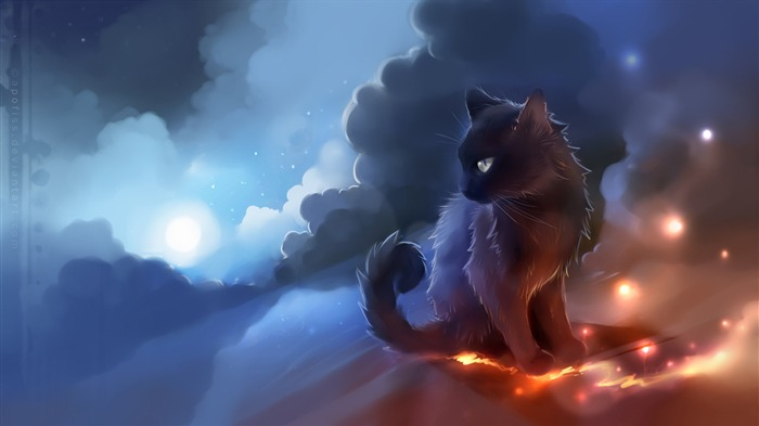 Abstract cat fire-2017 High Quality Wallpaper Views:977