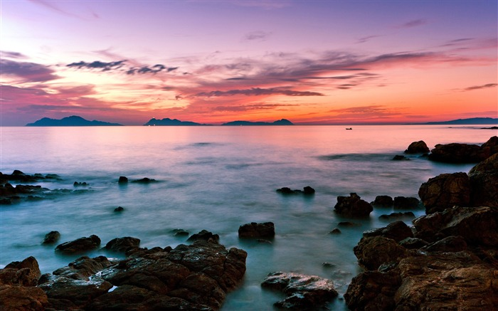 Beach seascape sunset-Nature landscape wallpaper
