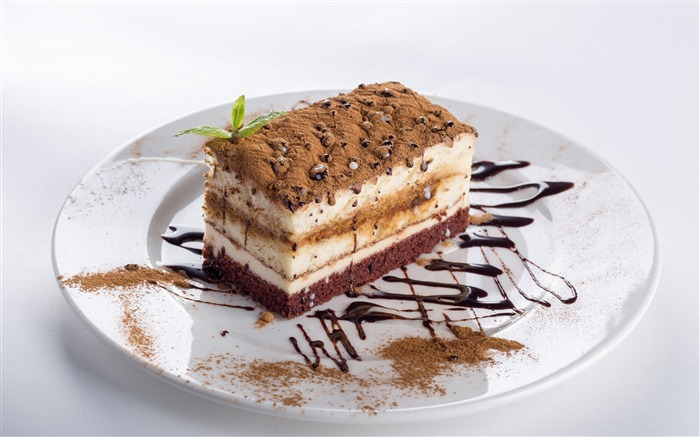 Cake souffles cream chocolate-Food Theme HD Wallpaper