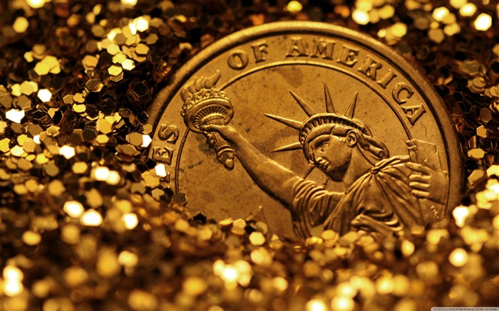 Liberty buried in gold-Vintage Themed Wallpaper Views:1308