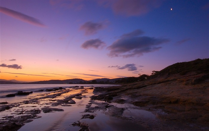 Sunset on the beach-Nature landscape wallpaper Views:367