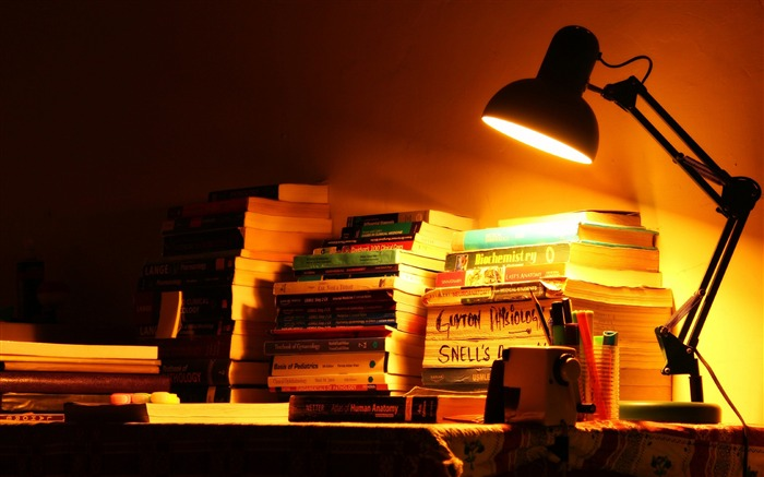 books life lamp-Vintage Themed Wallpaper Views:1257