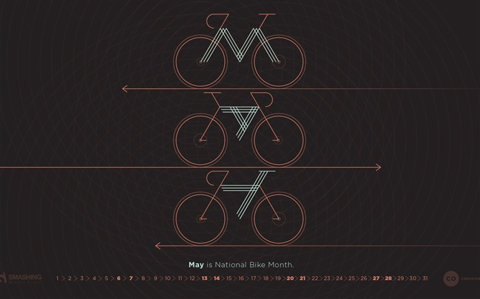 Be On Your Bike-May 2017 Calendar Wallpaper
