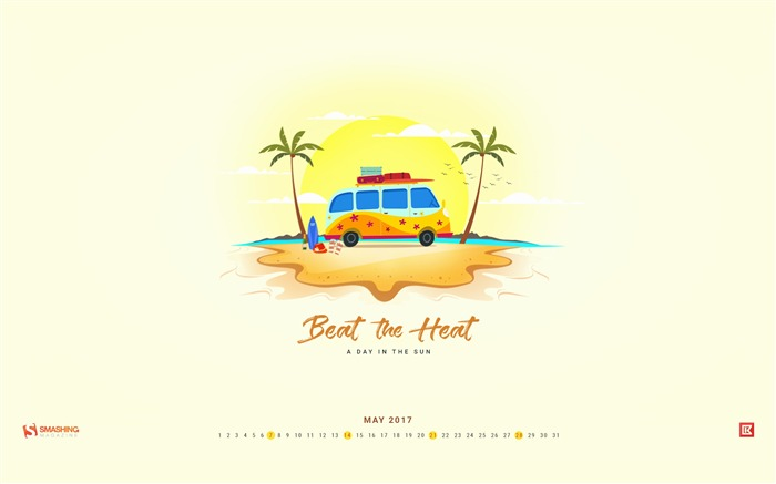 Title:Beat The Heat-May 2017 Calendar Wallpaper Views:774