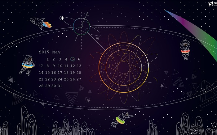 Celestial Longitude Of 45-May 2017 Calendar Wallpaper Views:1361