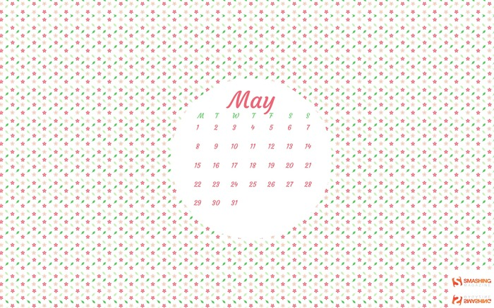 Hello May-May 2017 Calendar Wallpaper Views:1703