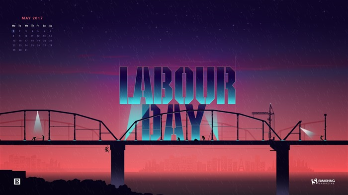 Labour Day-May 2017 Calendar Wallpaper Views:934