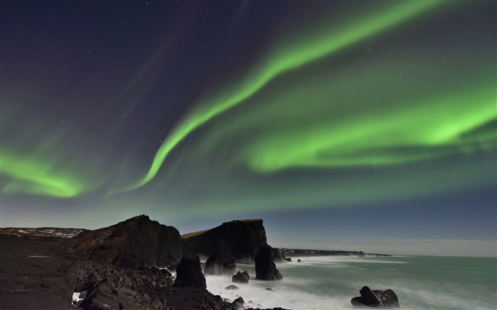 Northern lights peninsula iceland-Photography HD wallpaper Views:1484