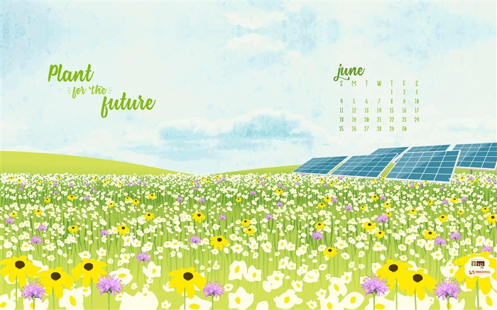Plant For The Future-June 2017 Calendar Wallpaper Views:1279