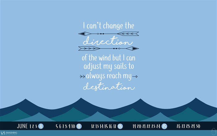 Sailors Quote-June 2017 Calendar Wallpaper Views:1211