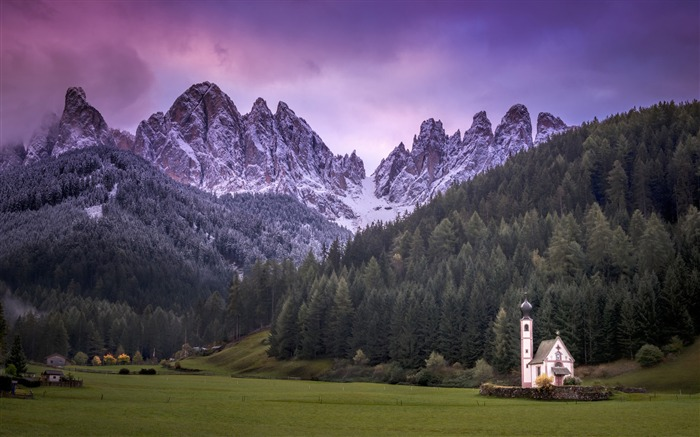 Small church mountain italy-Photography HD wallpaper Views:1588