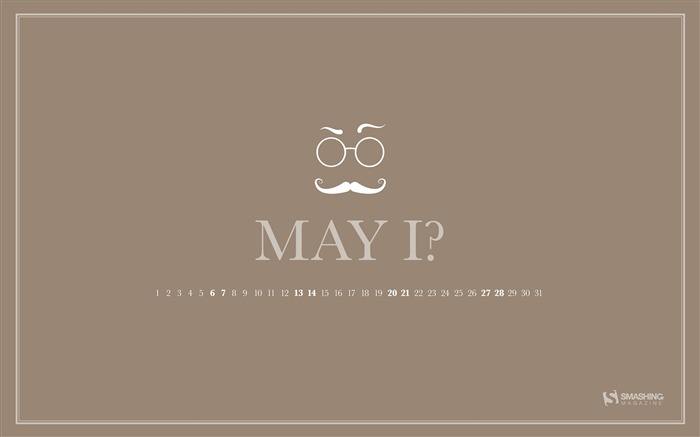The Gentleman-May 2017 Calendar Wallpaper