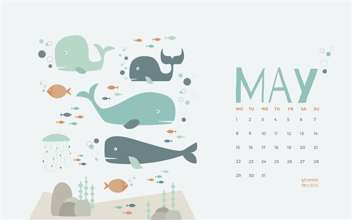 Title:Under The Sea-May 2017 Calendar Wallpaper Views:678