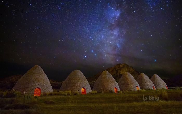Ward Charcoal Ovens State Historic Park in Nevada-2017 Bing Desktop Wallpaper Views:1090