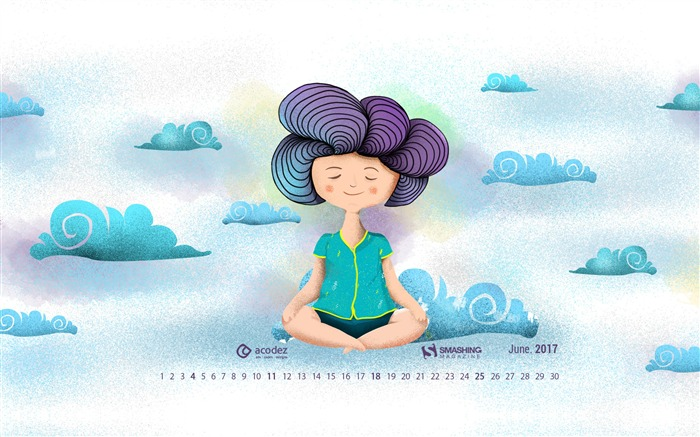Yoga Is A Light Which Once Lit Will Never Dim-June 2017 Calendar Wallpaper Views:380