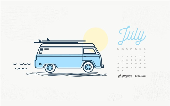 Road Trip In July-July 2017 Calendar Wallpaper Views:481