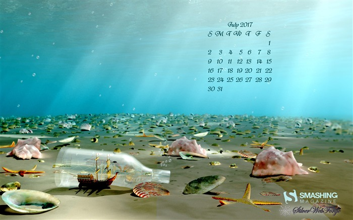 Ship In A Bottle Wreck-July 2017 Calendar Wallpaper Views:482