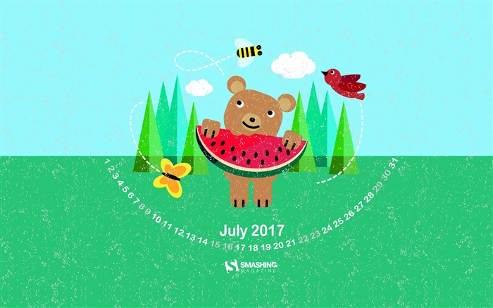 Sweet Summer-July 2017 Calendar Wallpaper Views:543