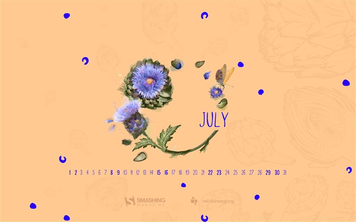 Taste Like Summer-July 2017 Calendar Wallpaper Views:498