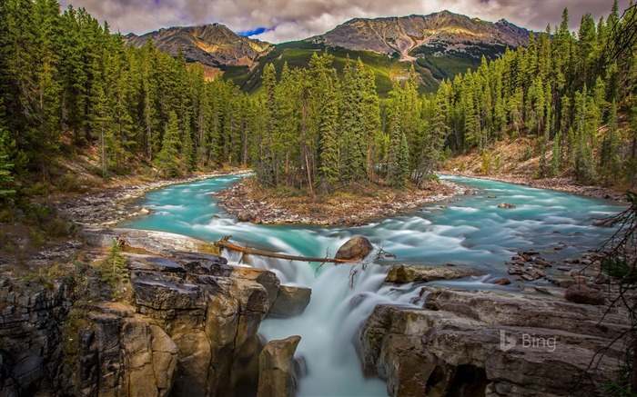 Canada Sunwapta Falls in Jasper National Park-2017 Bing Desktop Wallpaper Views:3504 Date:7/23/2017 12:40:54 AM
