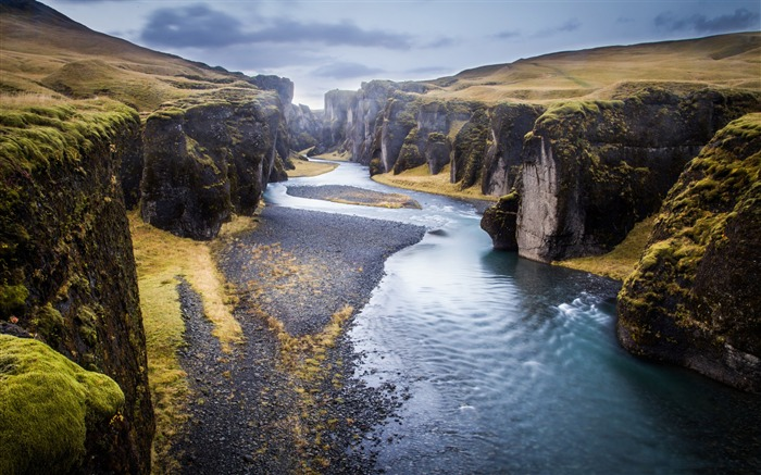 Iceland fjadrargljufur canyon-2017 Nature HD Wallpaper
