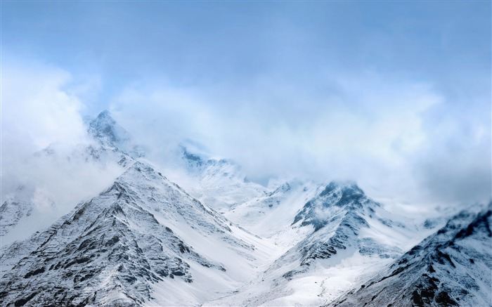 Snow mountains asus zenfone-2017 Nature HD Wallpaper Views:339