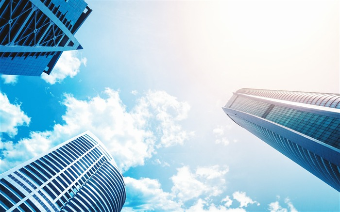 Architecture blue sky buildings-Life HD Wallpaper Views:1046