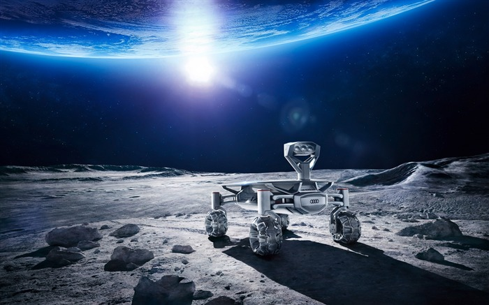 Audi moon rover hd-Universe HD Wallpaper Views:1671