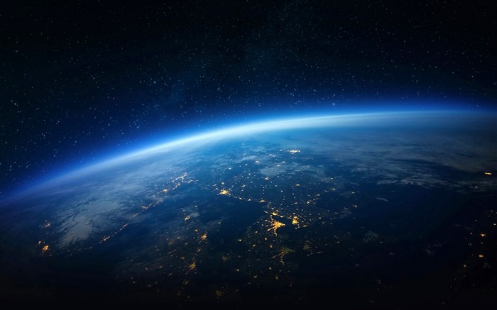 Blue earth horizon-Universe HD Wallpaper Views:1850