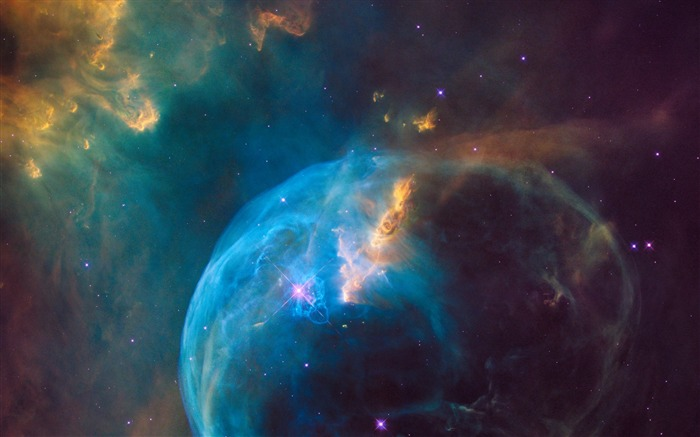 Bubble nebula-Universe HD Wallpaper Views:1558