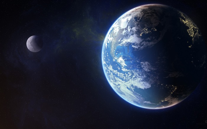 Galactic earth-Universe HD Wallpaper Views:2283