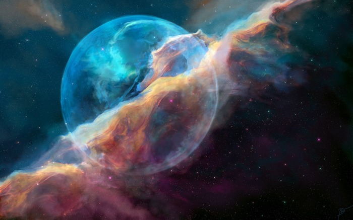 NGC 7635 bubble nebula-Universe HD Wallpapers Views:1326