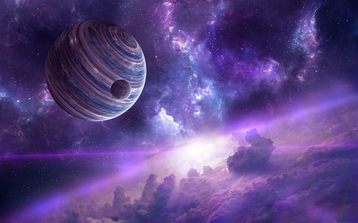 Nebula planets-Universe HD Wallpapers Views:1399