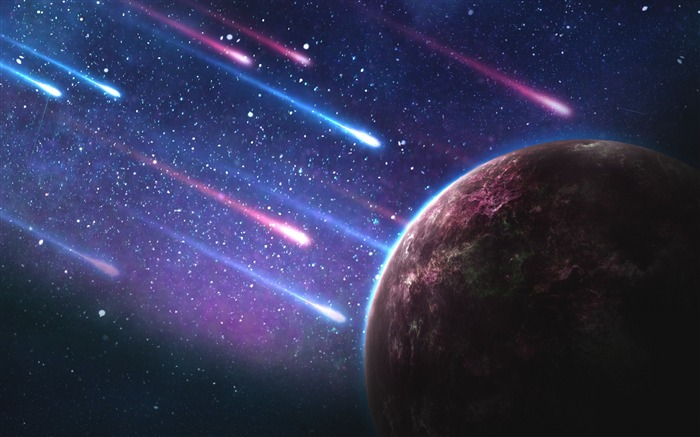 Planet meteorites space galaxy-Universe HD Wallpaper Views:1696