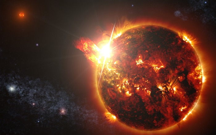 Powerful megaflares-Universe HD Wallpapers Views:1642