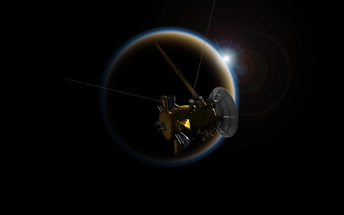 Saturn cassini probe-Universe HD Wallpapers Views:1454