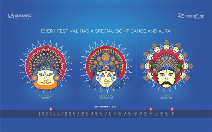 September Festivals In India-September 2017 Calendar Wallpaper