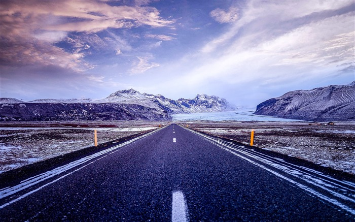 Skaftafell iceland road-Scenery HD Wallpaper Views:1117