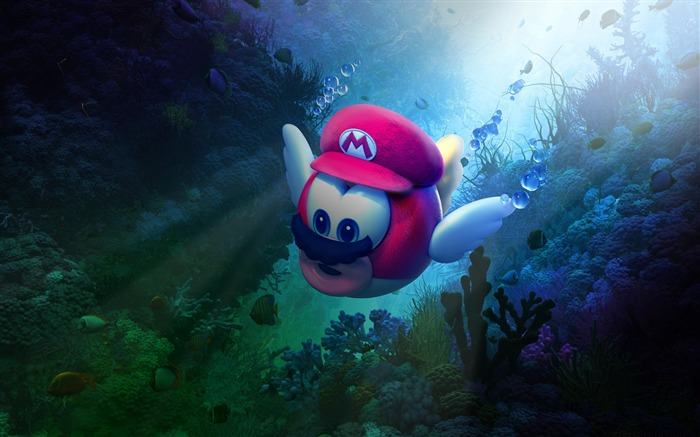 Super mario odyssey underwater-2017 Game HD Wallpaper Views:251