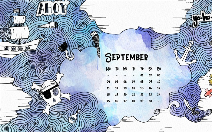 Talk Like A Pirate Day-September 2017 Calendar Wallpaper Views:657