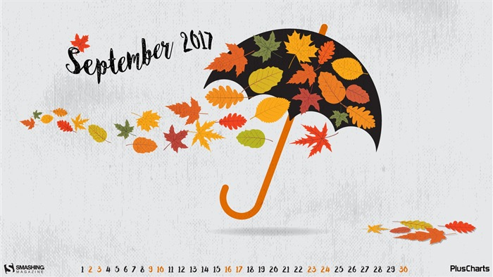 Umbrella-September 2017 Calendar Wallpaper Views:533