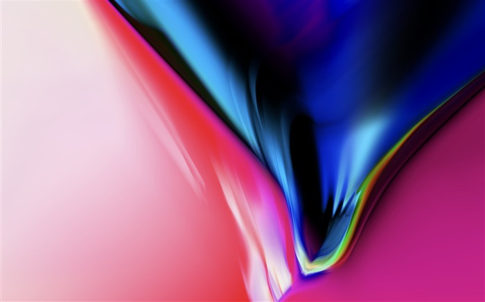 Abstract colorful black-Apple iOS 11 iPhone 8 iPhone X HD Wallpaper
