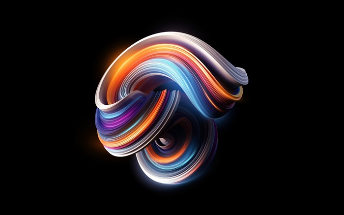 Abstract colorful curves-Design HD Wallpaper Views:458